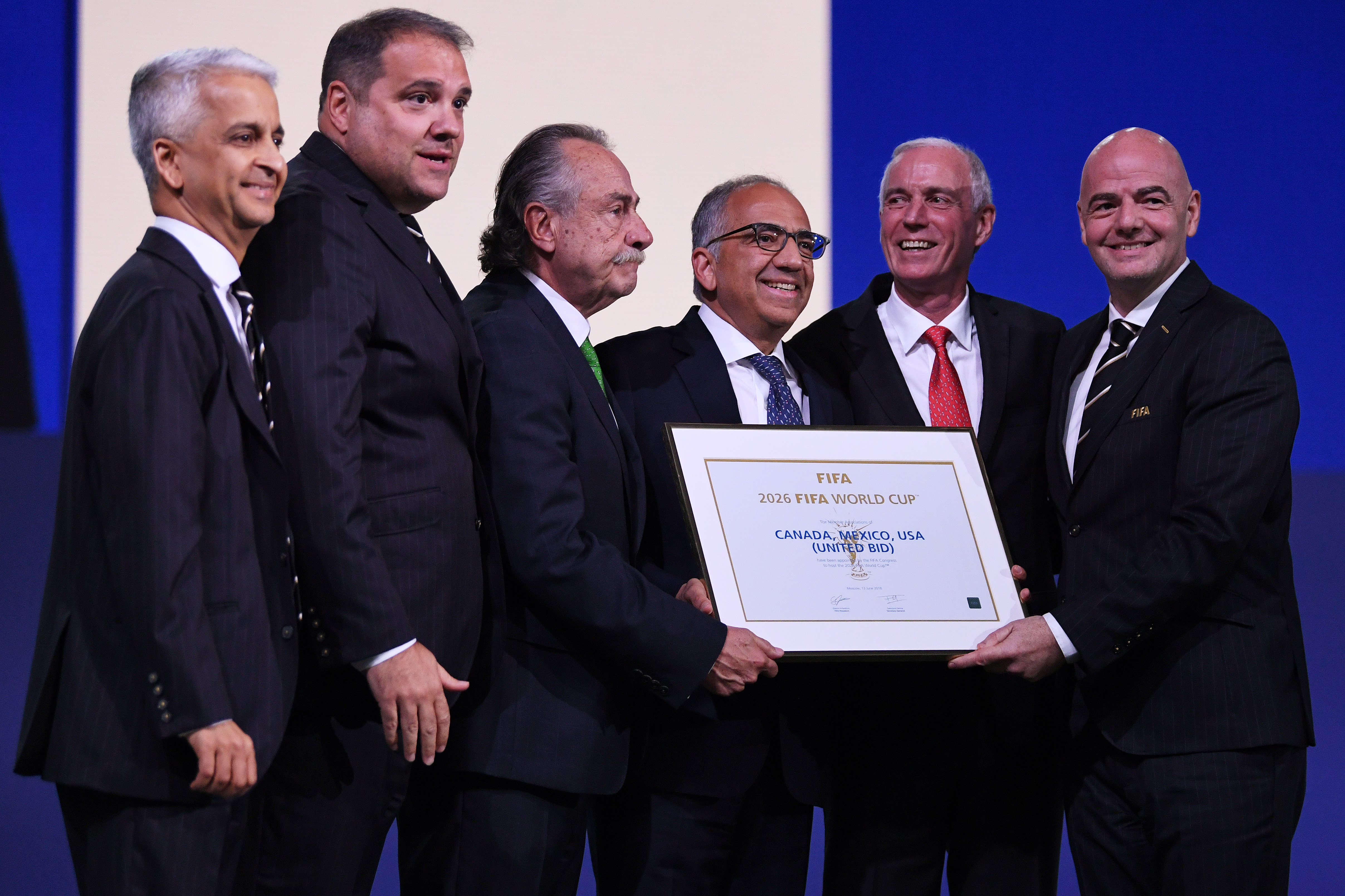 United Bid of Canada, Mexico and the United States wins right to host 2026 World Cup