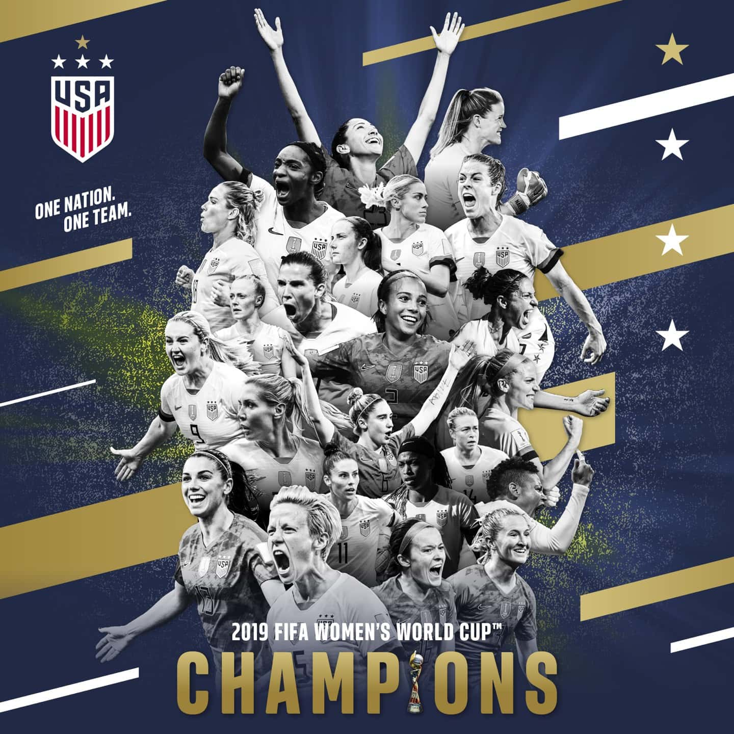 5db9112bec8 USA Wins Back-To-Back Women's World Cup Titles With 2-0 Triumph Against The  Netherlands