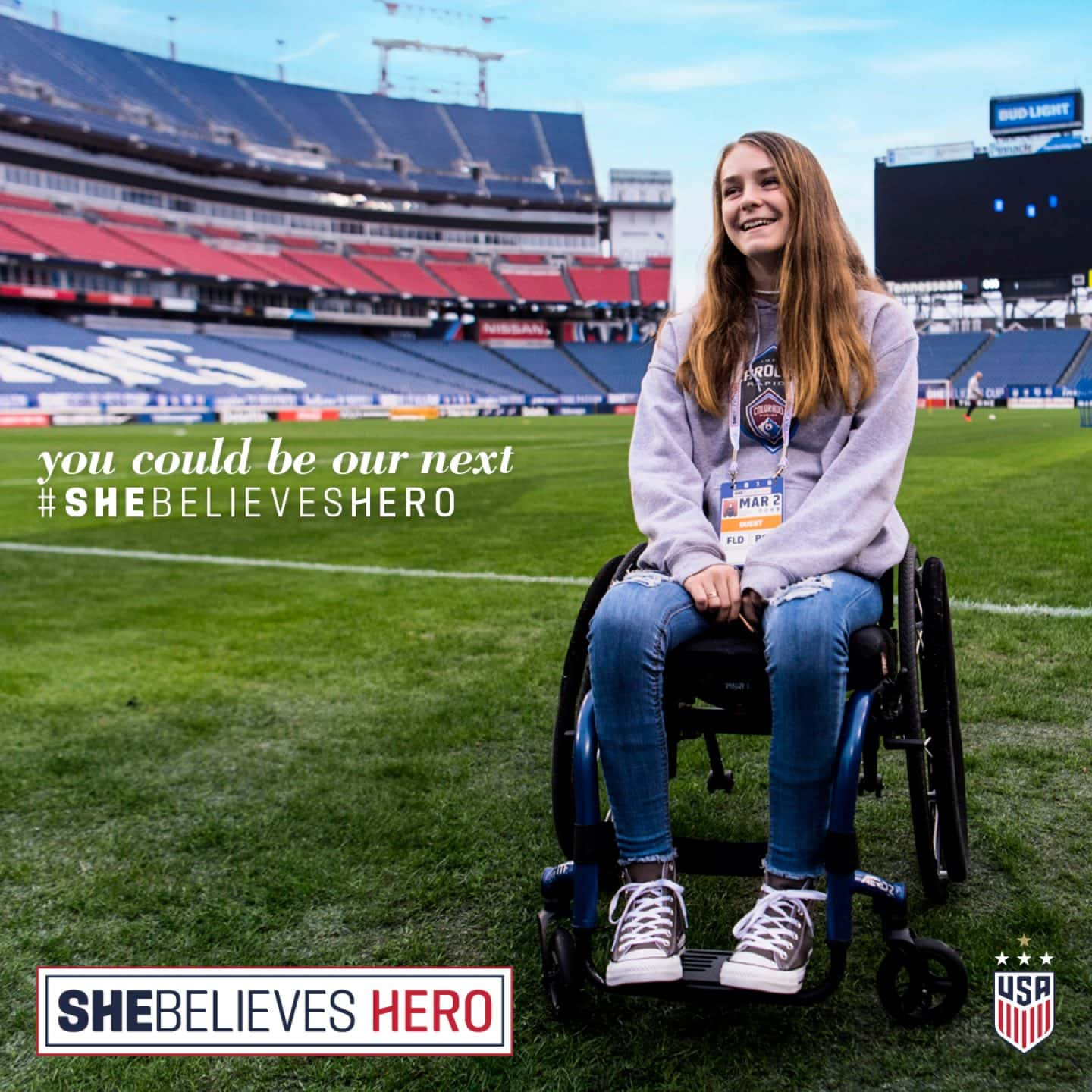 You Could Be Our Next #SheBelievesHero