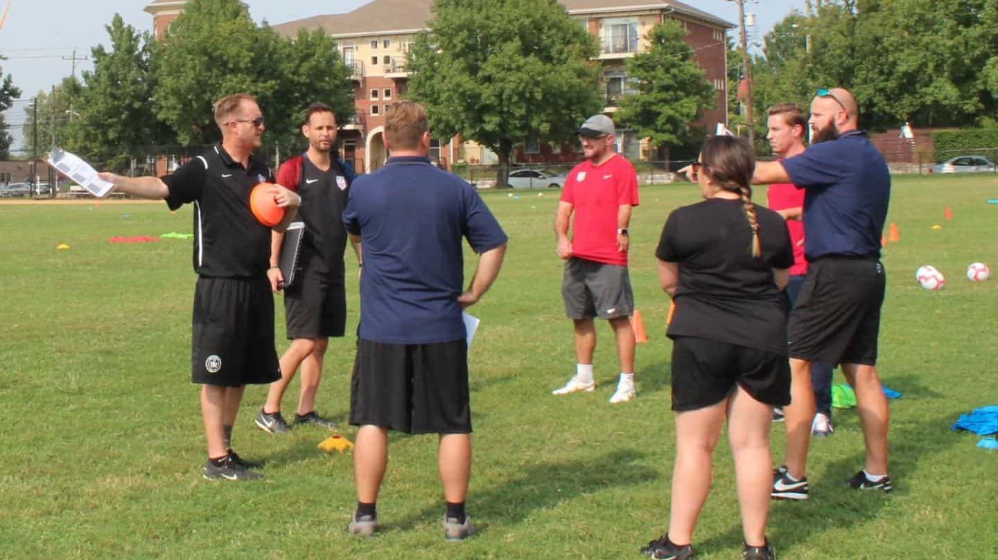 Group of soccer coaches