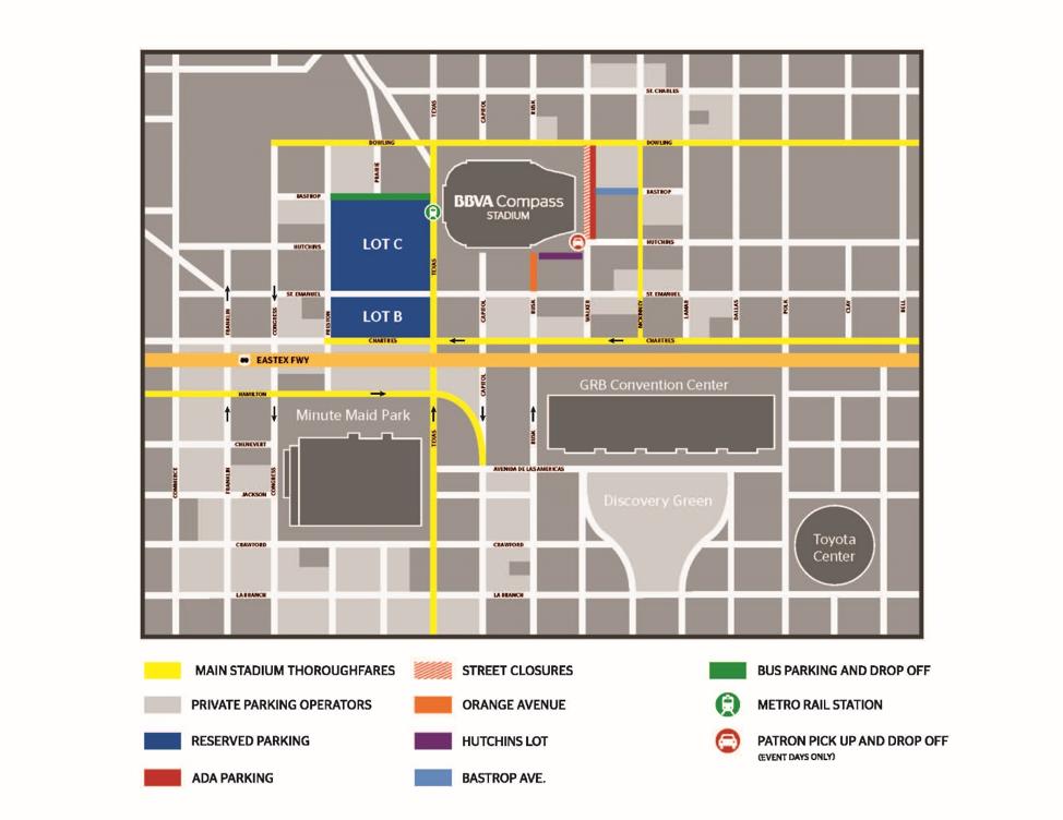 BBVA Stadium Parking Map