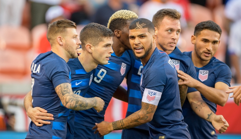 U.S. MNT - Christian Pulisic celebrates his goal vs Chile