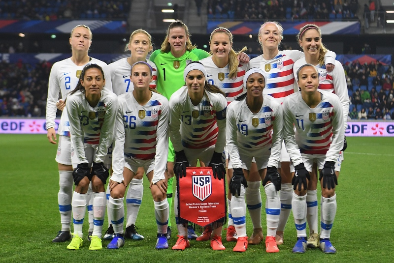 U.S. WNT starting XI vs. France - Jan. 19, 2019