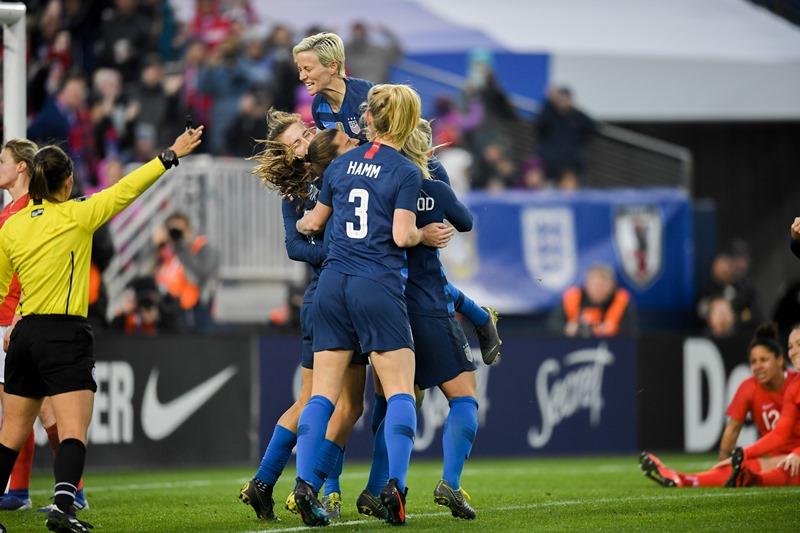 Tobin Heath goal vs. England - 2019 SheBelieves Cup