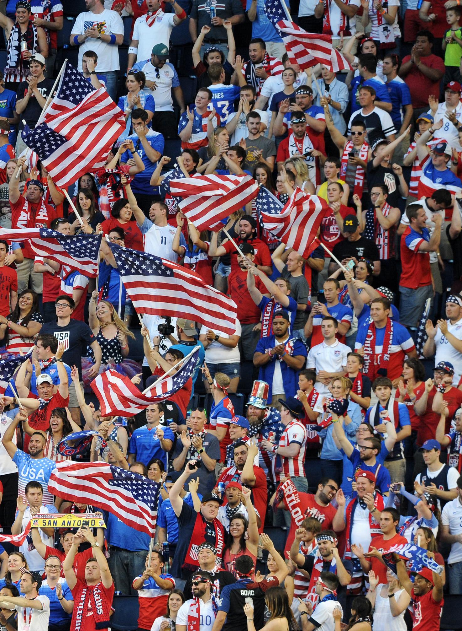 U.S. Soccer Fans In Stadium