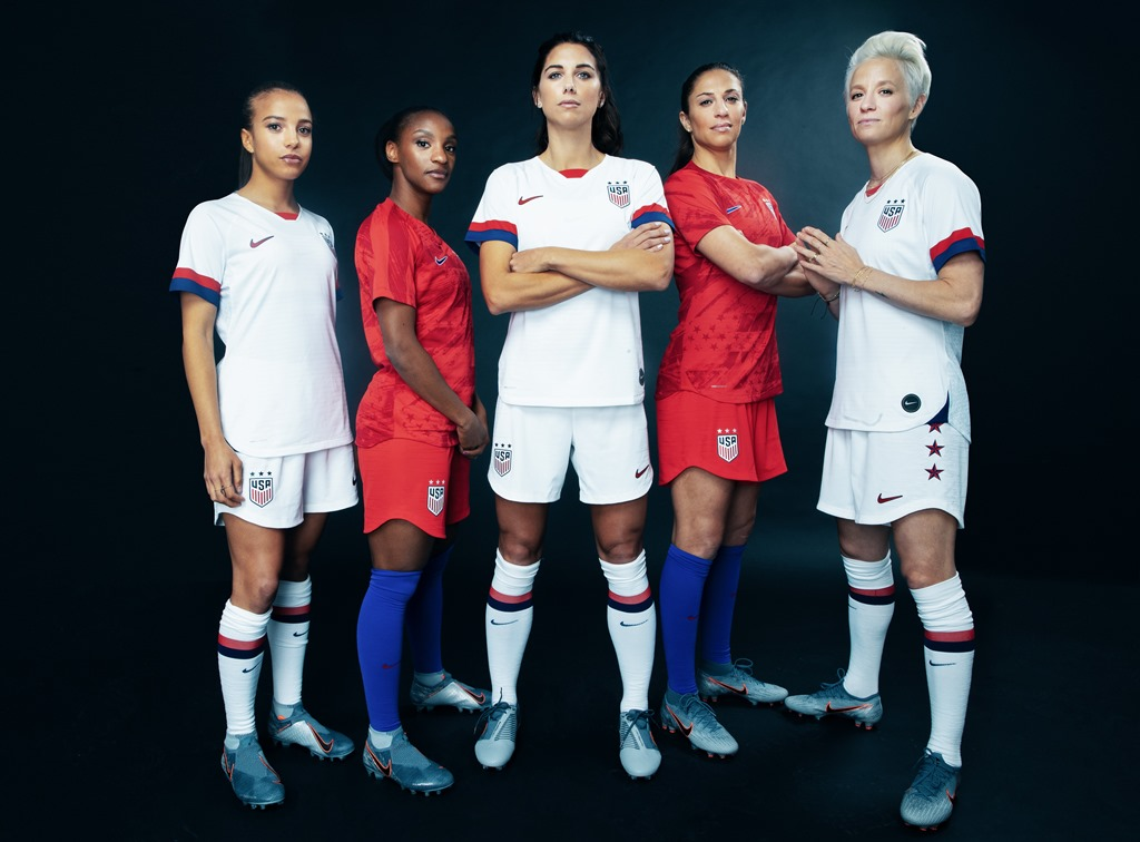 3ab620f0977 New 2019 USWNT Kits Nod To The Team s Championship Past and American Spirit