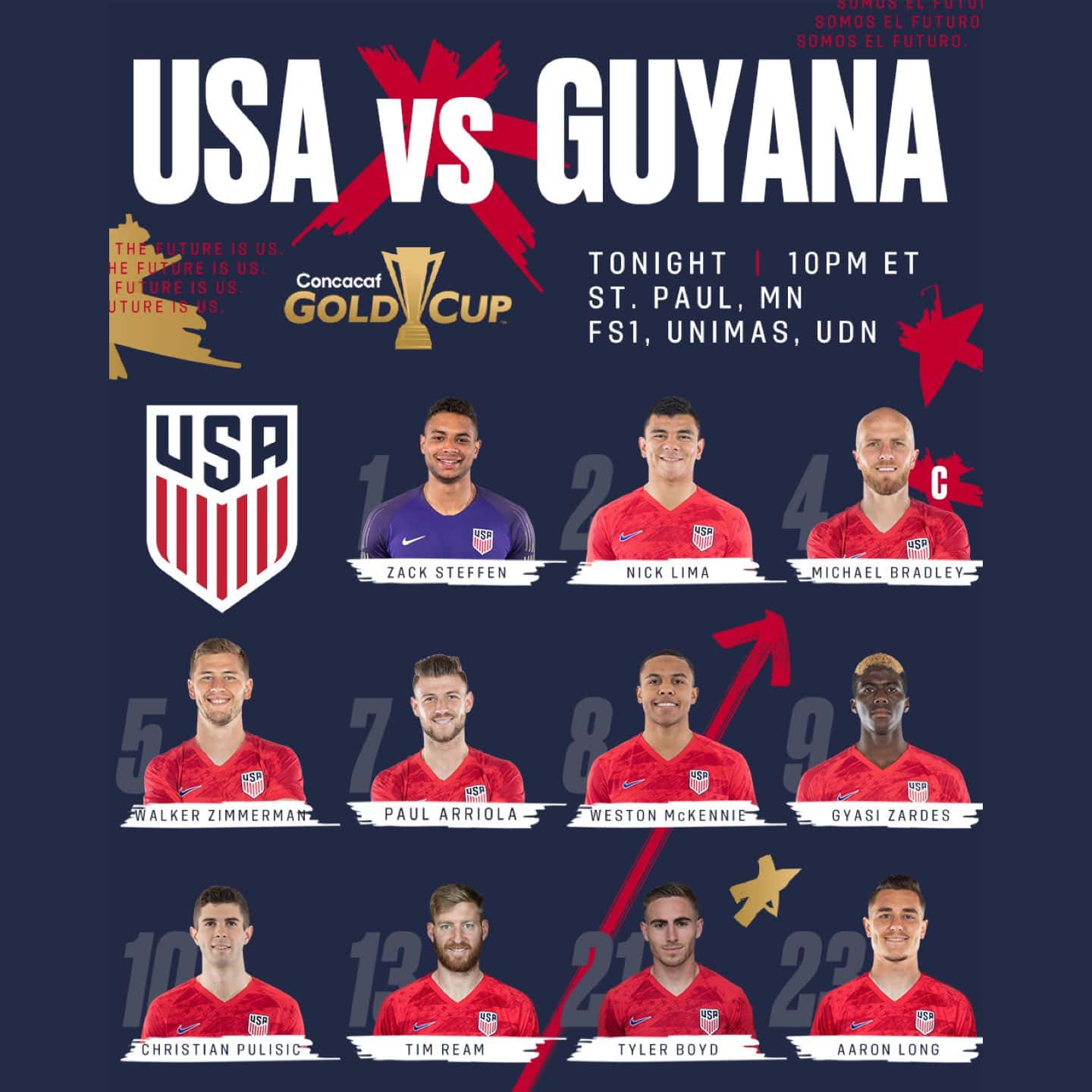 Gold Cup 2019: USA vs Guyana - Preview & Lineup | U.S. Soccer