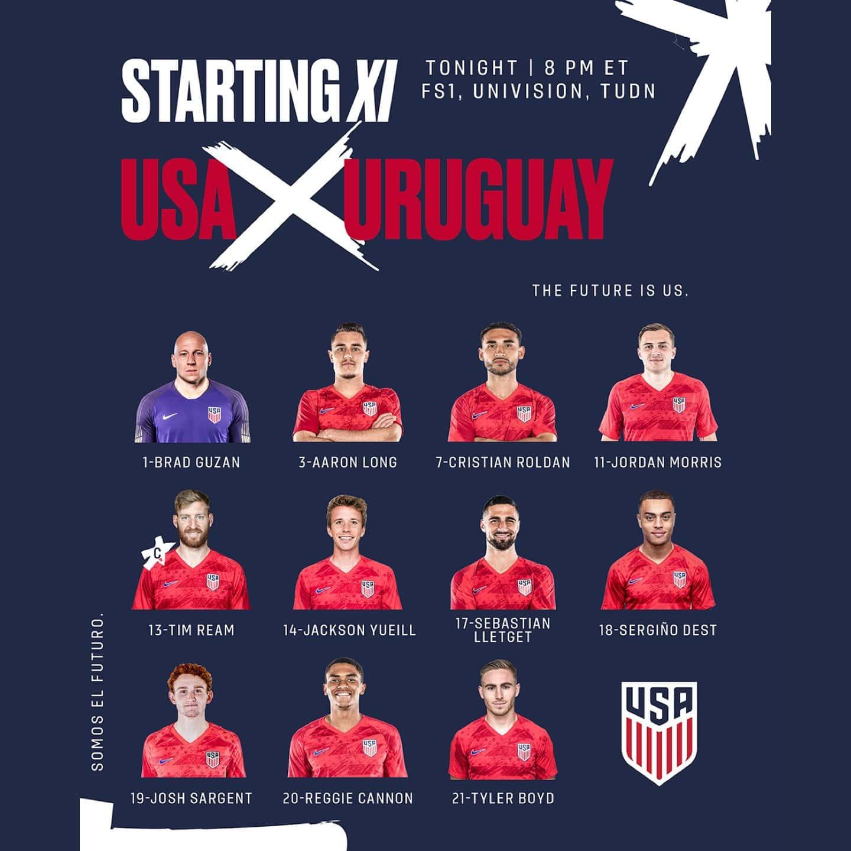 USA vs. Uruguay - Lineup, Schedule & TV Channels