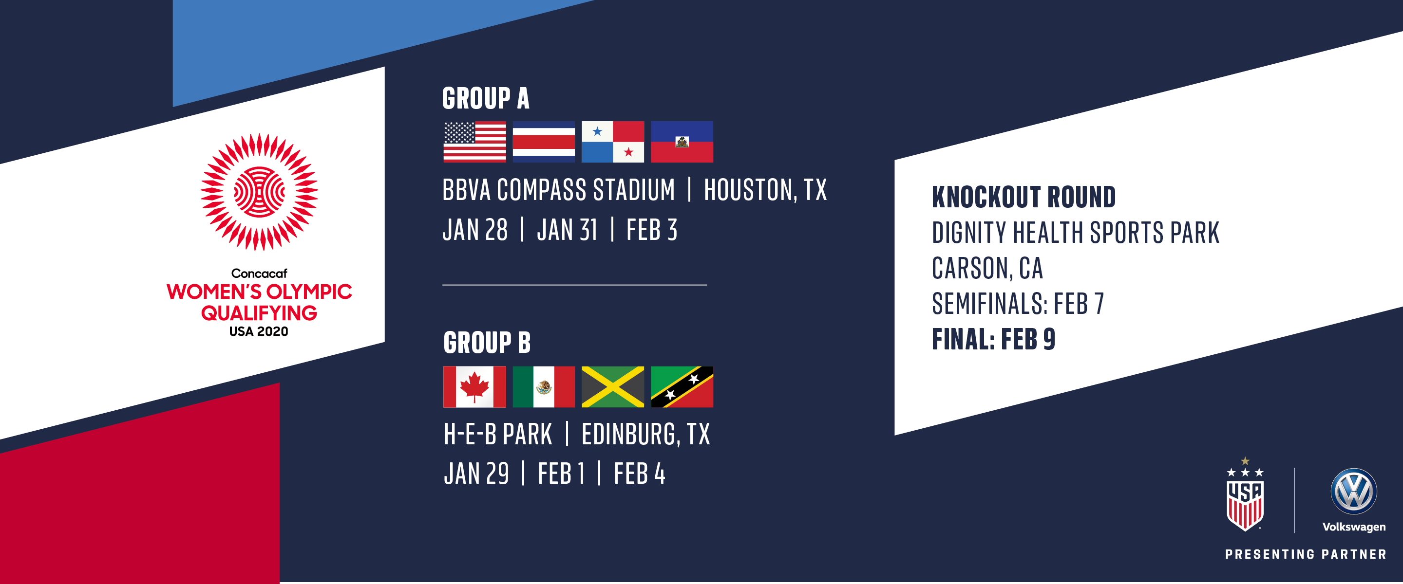 Concacaf Womens World Cup Qualifying 2020.Schedule Set For 2020 Concacaf Women S Olympic Qualifying