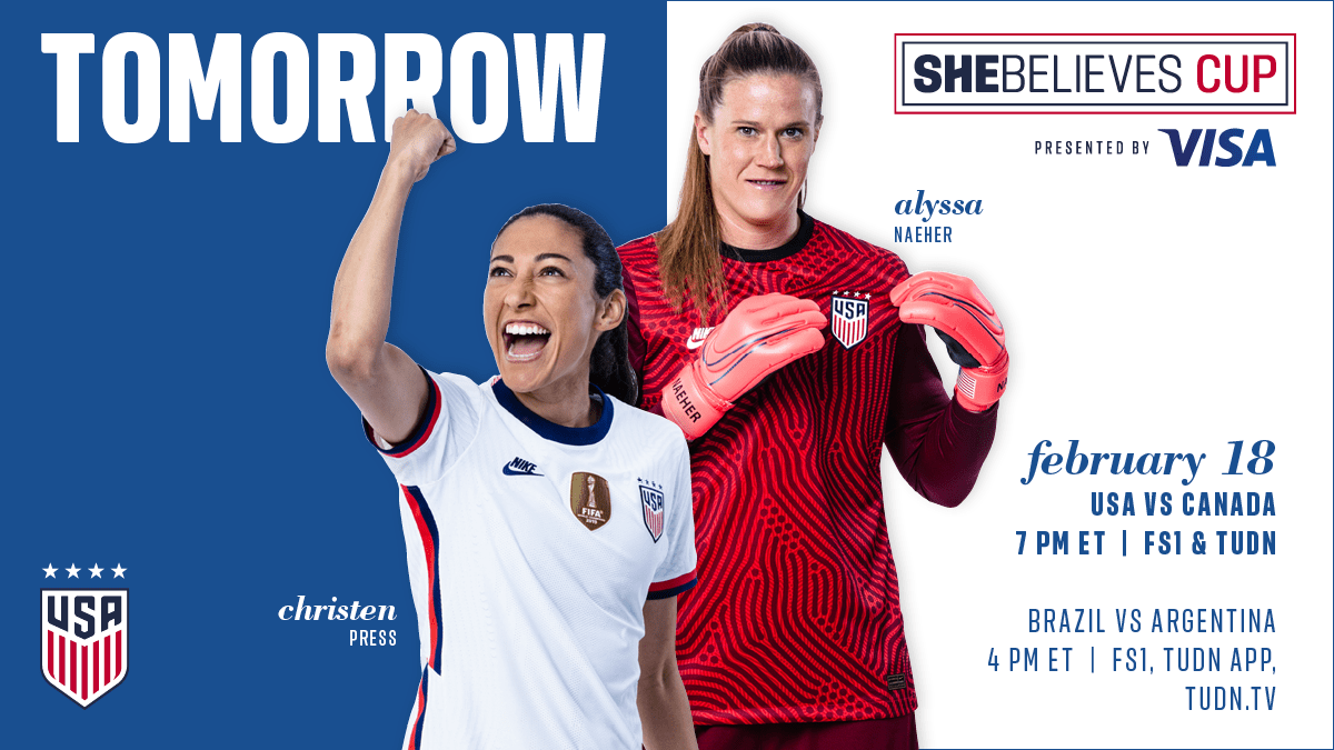 2021 SheBelieves Cup: USA vs. Canada - Preview, Schedule, TV Channels & Start Time