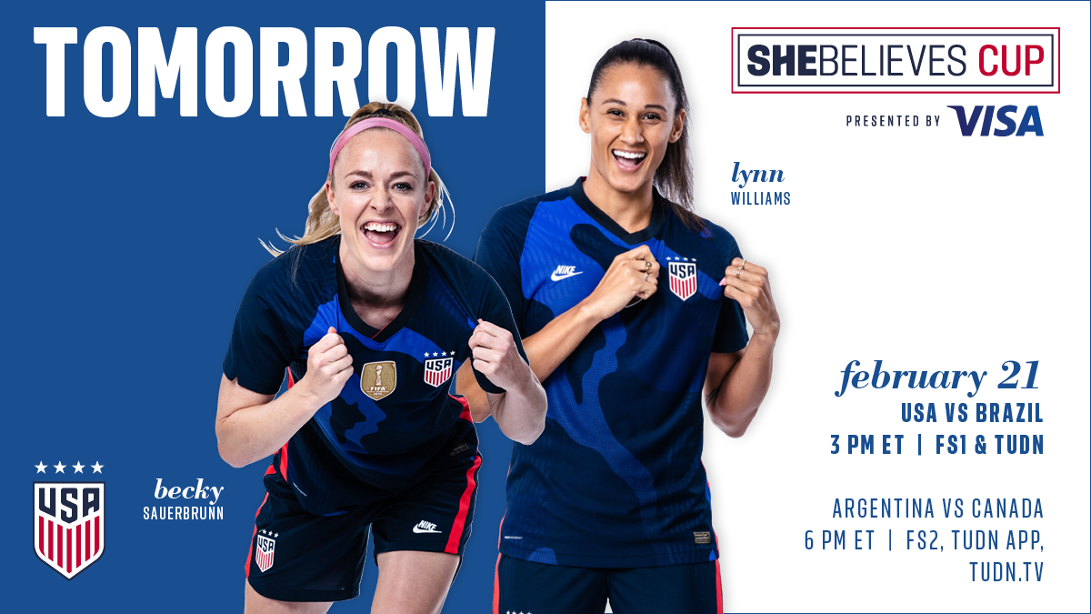 2021 SheBelieves Cup: USA vs. Brazil - Preview, Schedule, TV Channels & Start Time