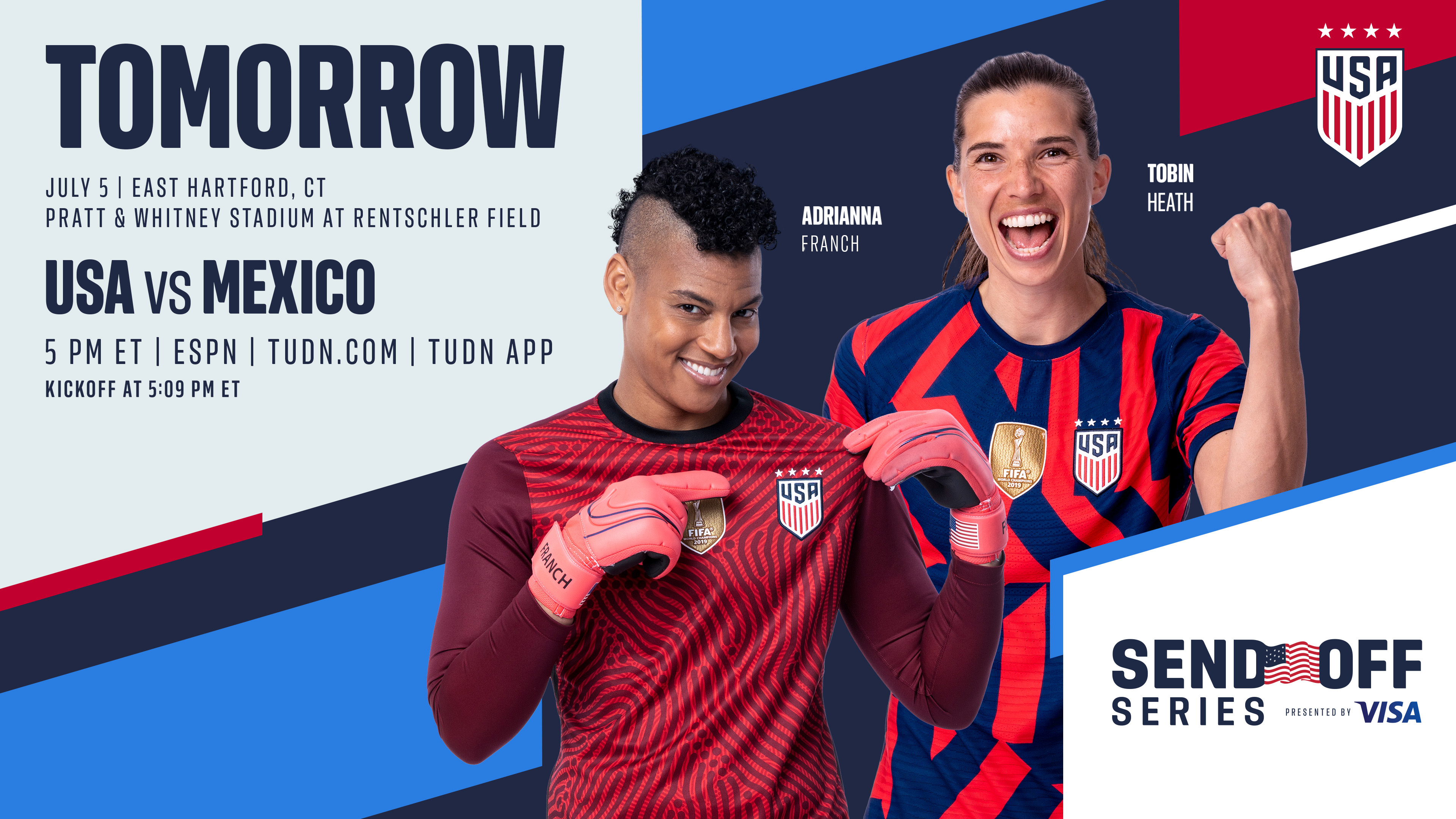 2021 Send Off Series: USA vs. Mexico - July 5th | Preview, Schedule, TV Channels & Start Time