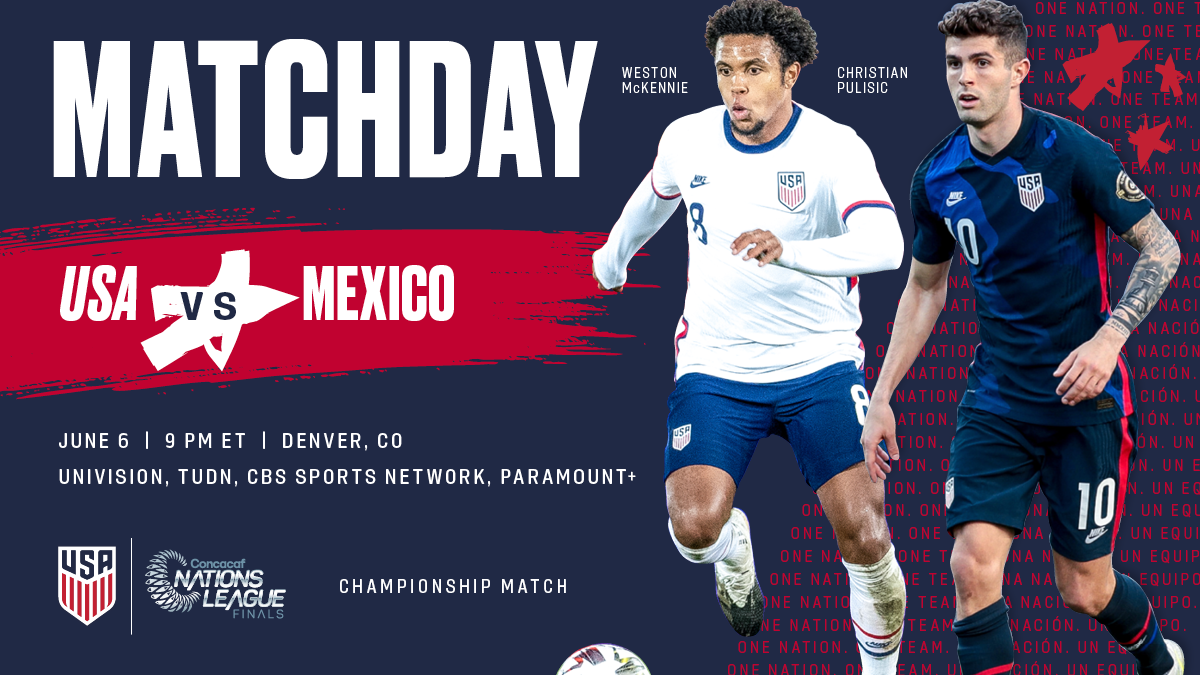 Concacaf Nations League Final: USA vs. Mexico - Preview, Schedule, TV Channels & Start Time