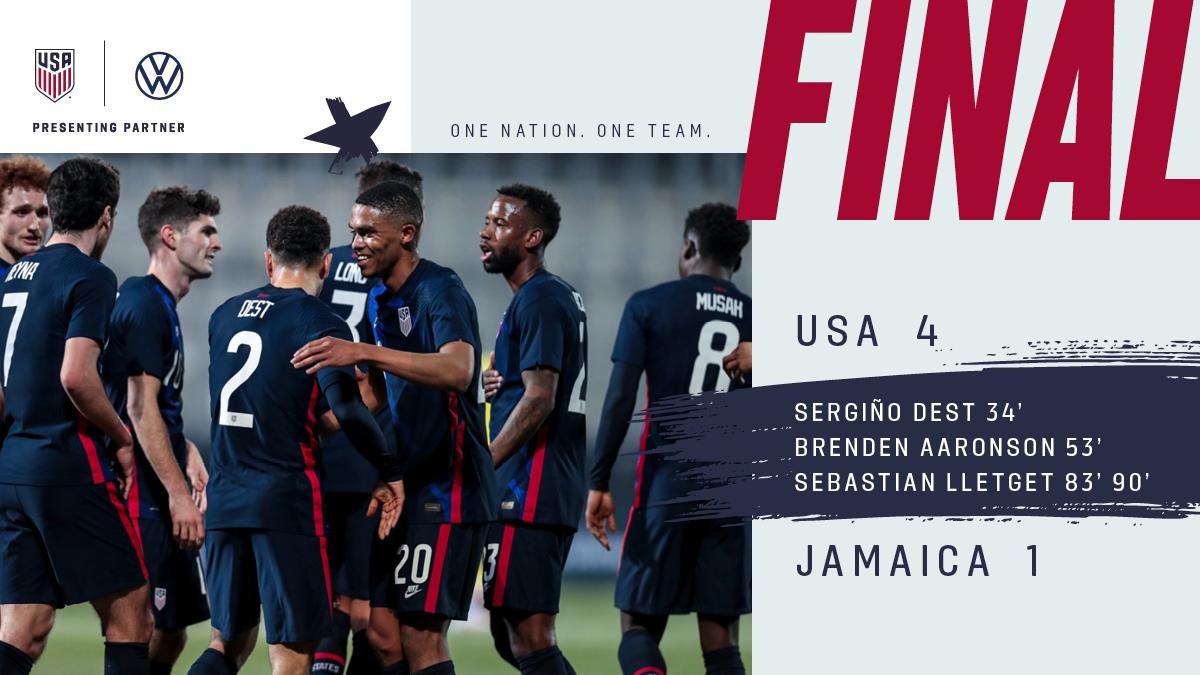International Friendly: USA 4 - Jamaica 1    Match Report, Stats & Standings