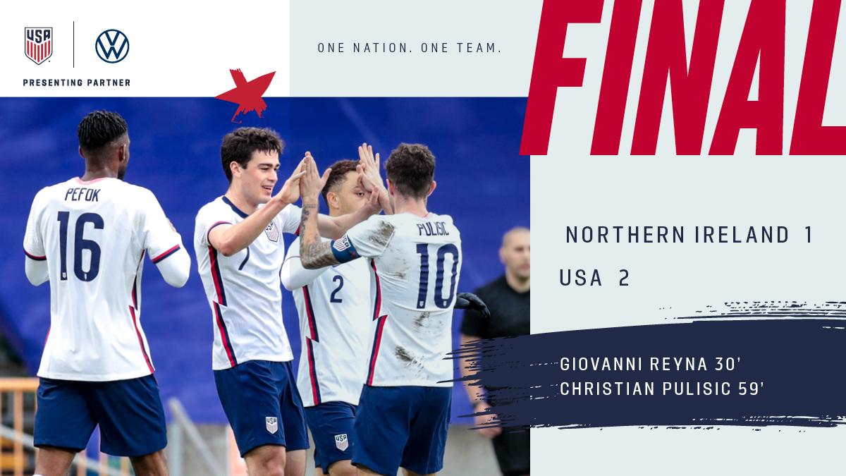 International Friendly: USA 2 - Northern Ireland 1   Match Report, Stats & Standings