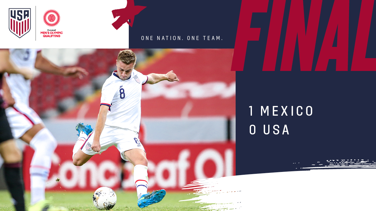 Concacaf Men's Olympic Qualifying: USA 0 - Mexico 1  | Match Report, Stats & Standings
