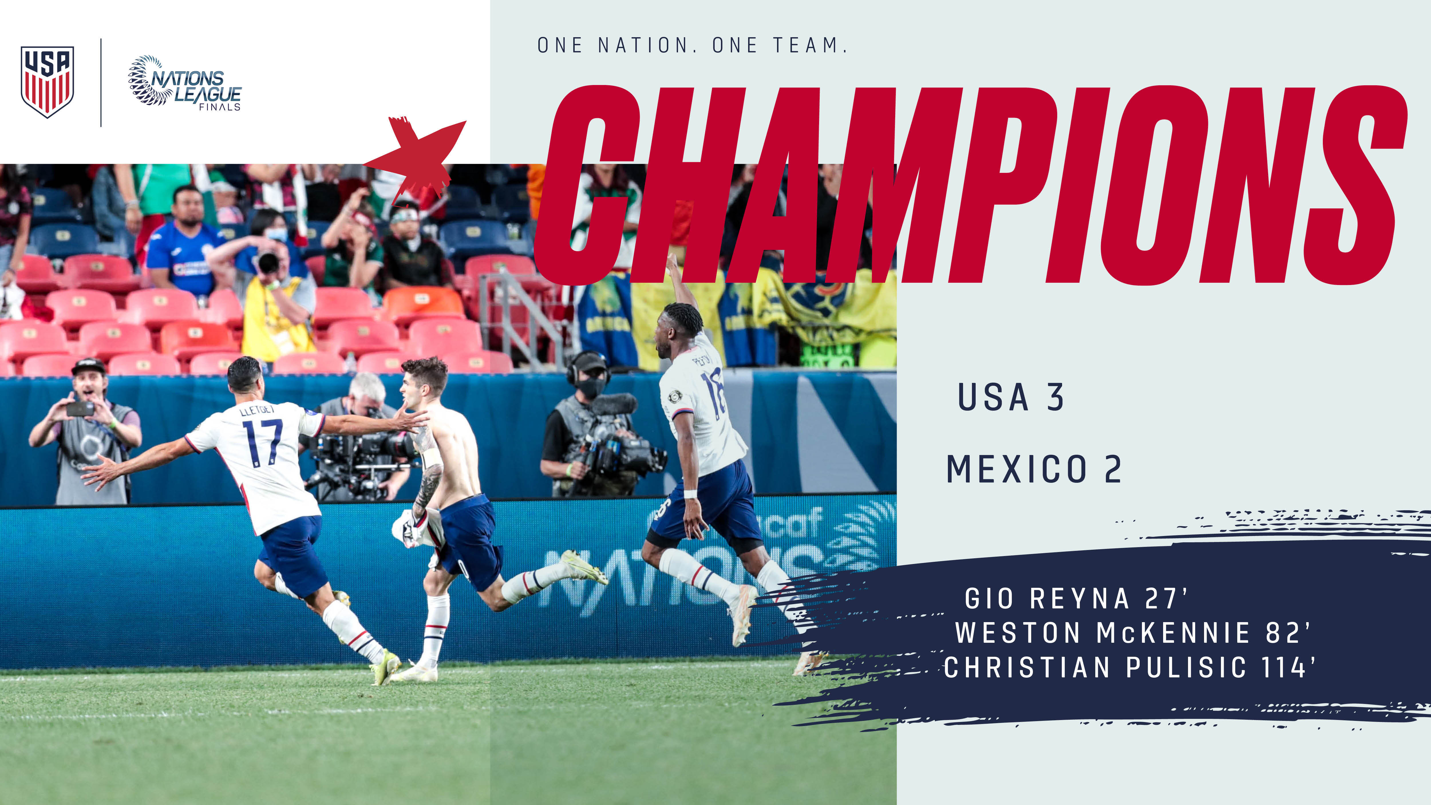 Concacaf Nations League Final: USA 3 - Mexico 2   Match Report, Stats & Standings