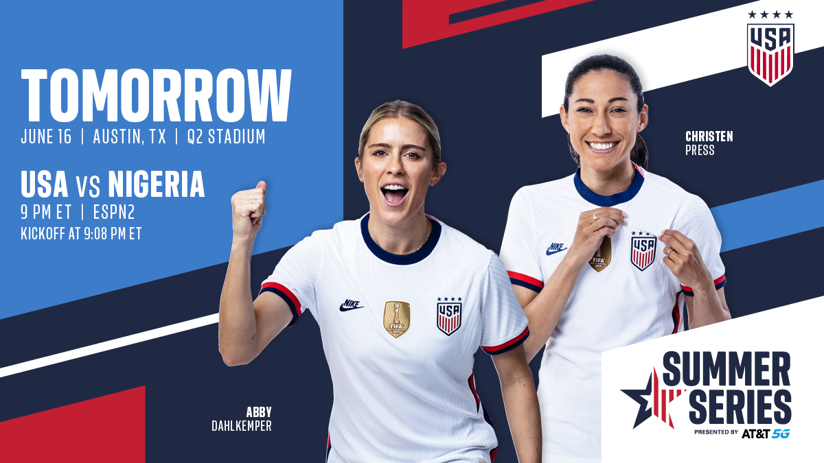 2021 WNT Summer Series: USA vs. Nigeria - Preview, Schedule, TV Channels & Start Time