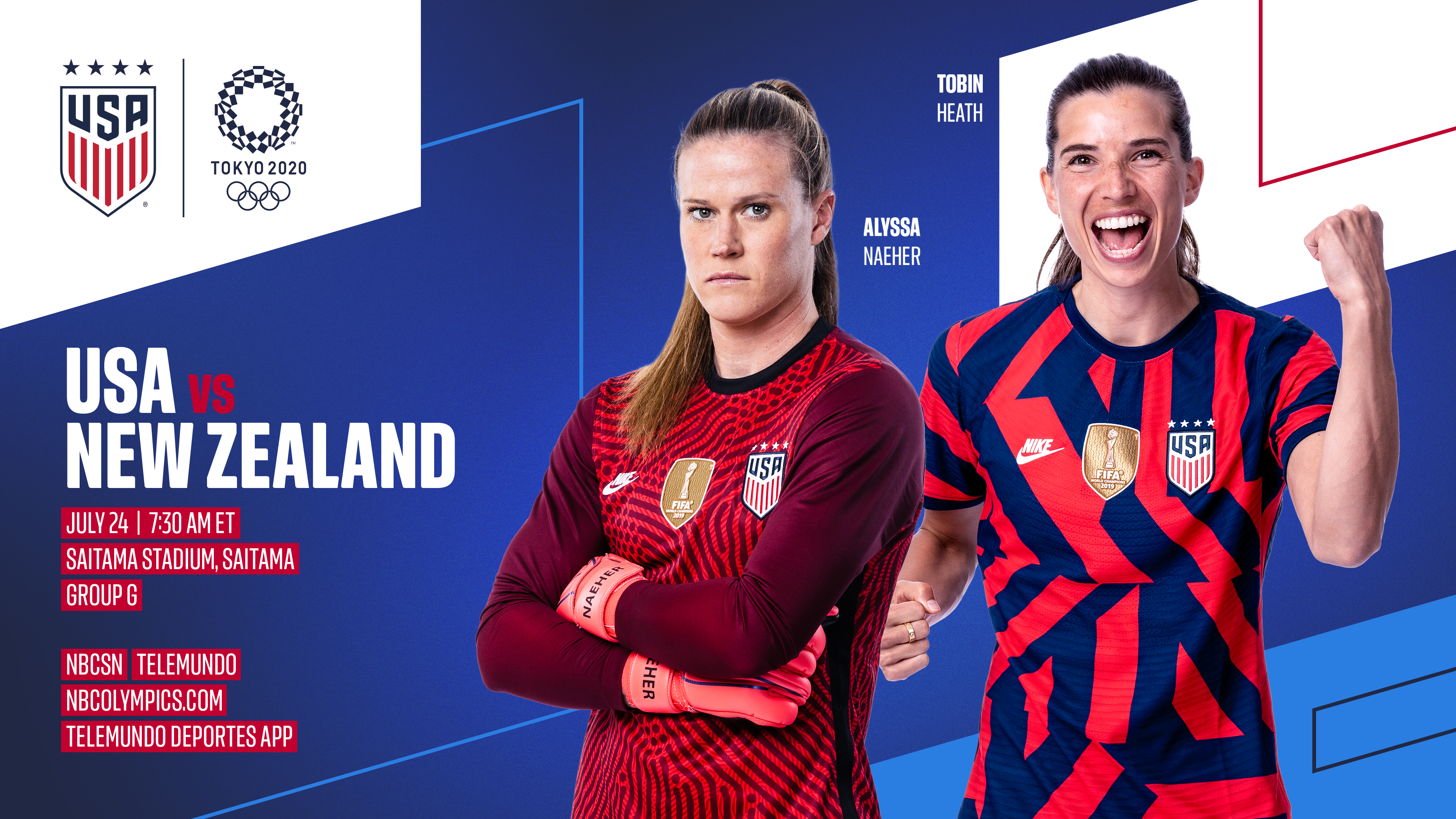 2020 Tokyo Olympics: USA vs. New Zealand - Preview, Schedule, TV Channels & Start Time