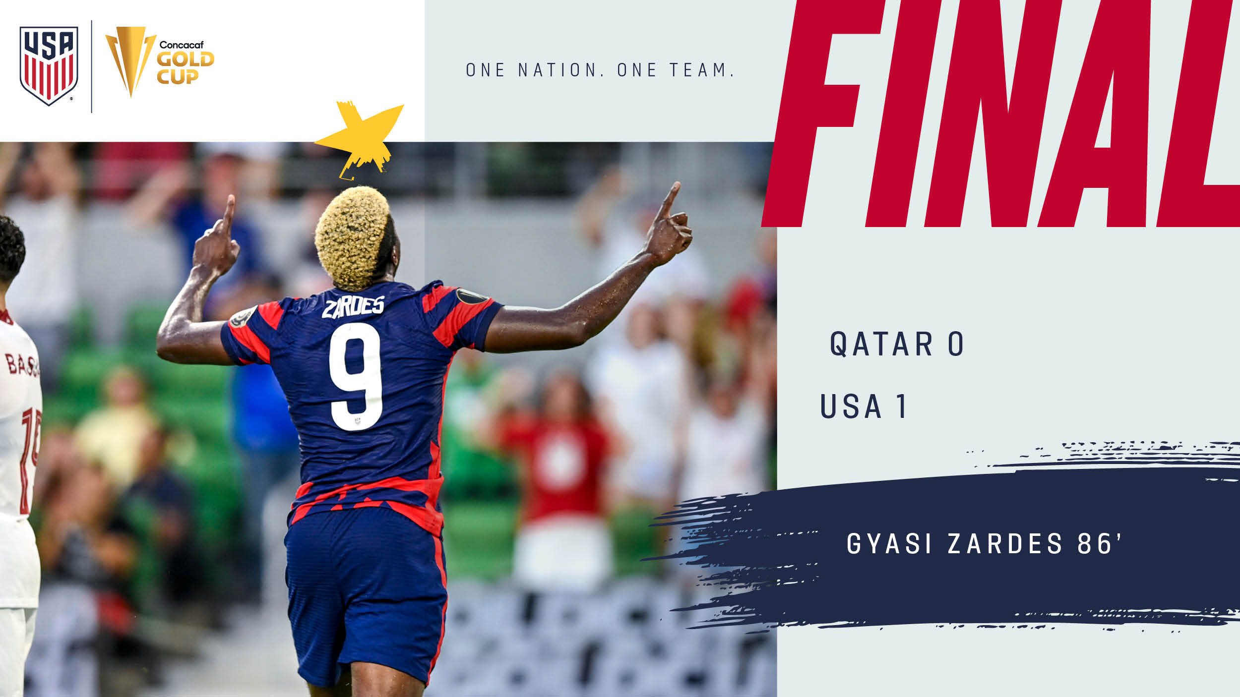 2021 Concacaf Gold Cup Semifinal: USA 1 - Qatar 0   Match Report, Stats & Bracket