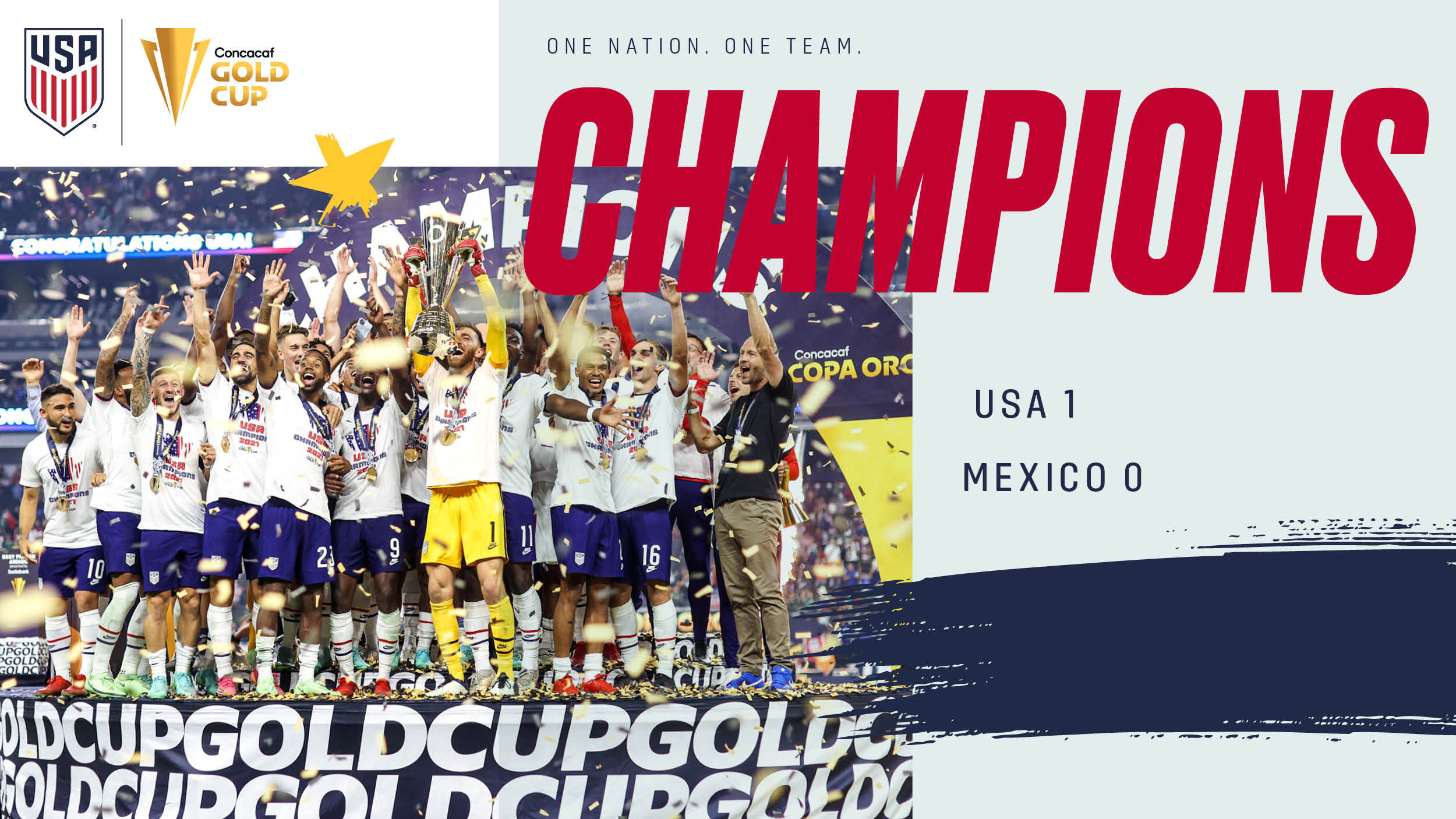 2021 Concacaf Gold Cup Final: USA 1 - Mexico 0   Match Report, Stats & Bracket
