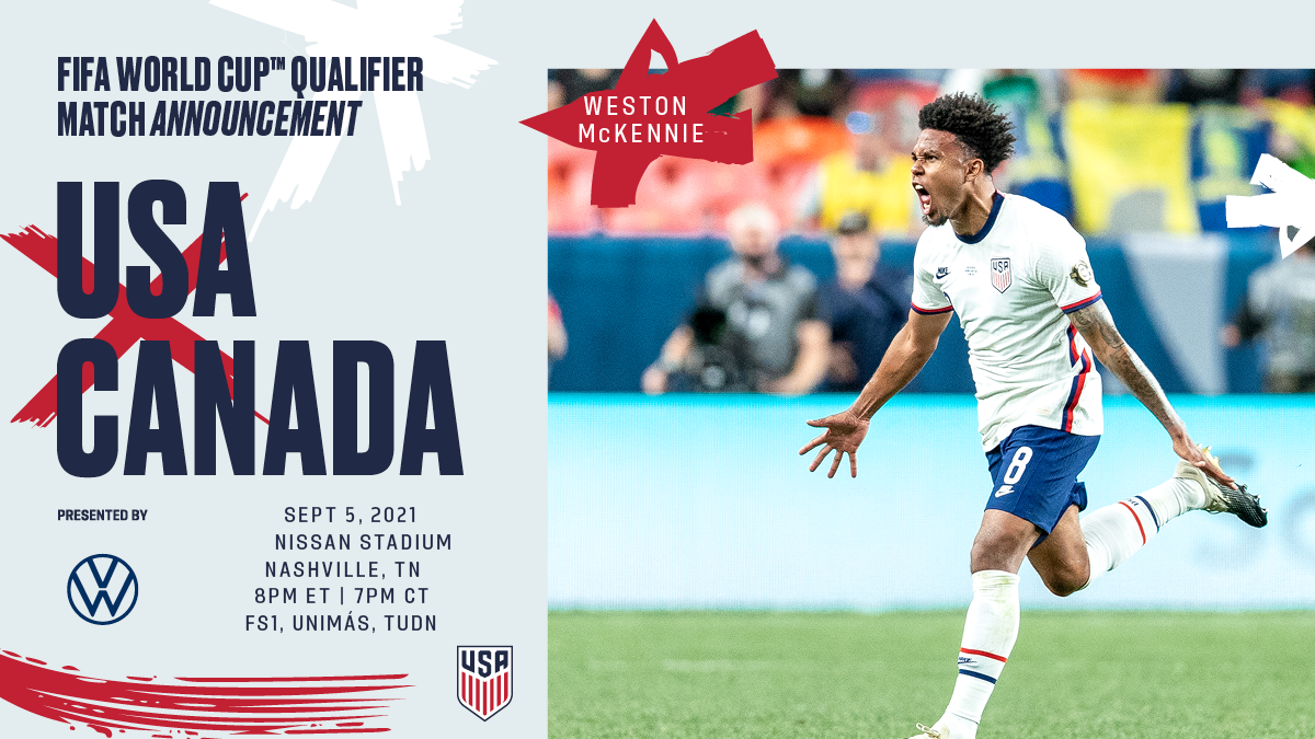U.S. Soccer Selects Nashville as Venue for USA-Canada, Presented by Volkswagen