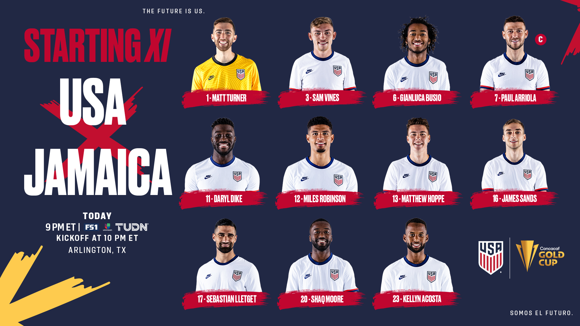 2021 Concacaf Gold Cup Quarterfinal: USA vs Jamaica - Starting XI, Lineup Notes, TV Channels & Start Time