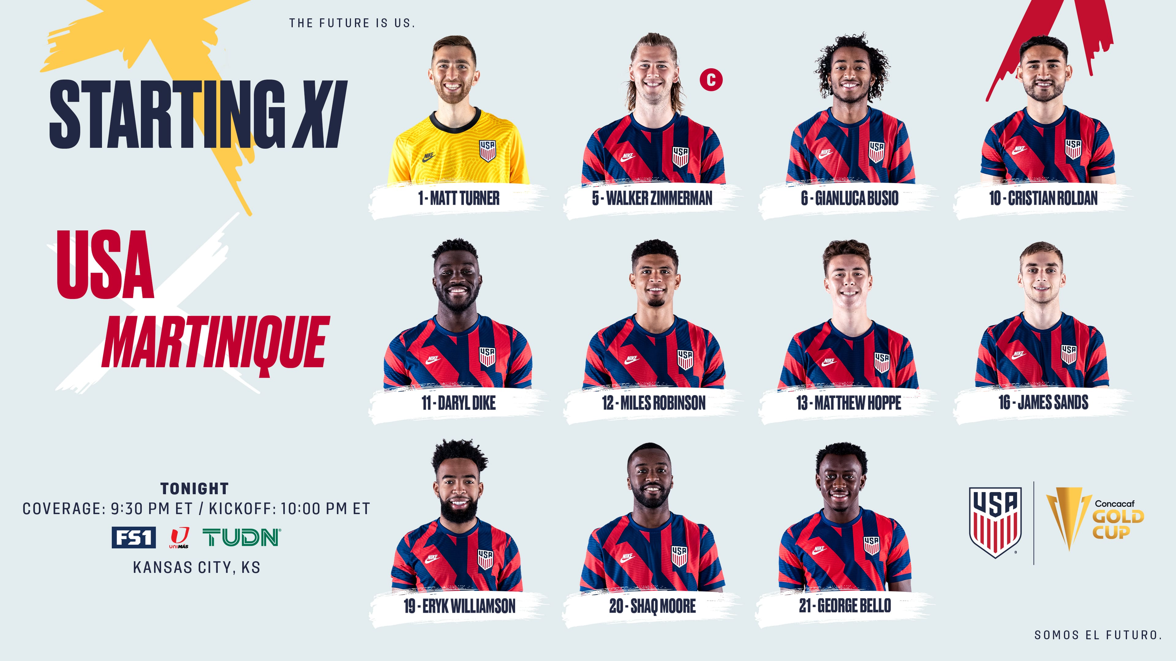 2021 Concacaf Gold Cup: USA vs Martinique - Starting XI, Lineup Notes, TV Channels & Start Time