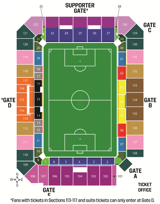 Exploria Stadium Map