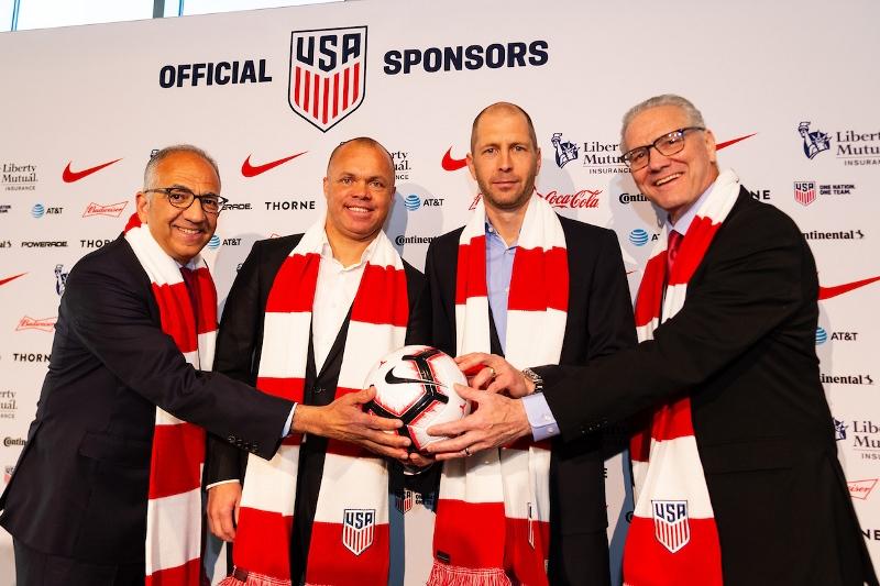 U.S. Soccer President Carlos Cordeiro, MNT GM Earnie Stewart, Head Coach Gregg Berhalter and CEO/Secretary General Dann Flynn