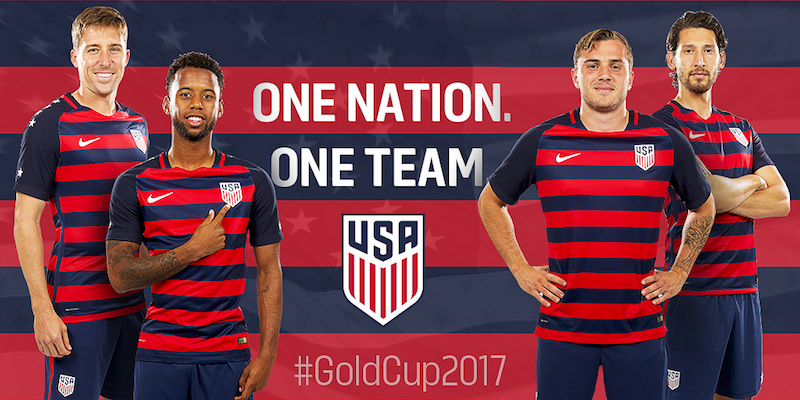 new concept 143c6 fa875 U.S. Soccer Unveils U.S. MNT 2017 Gold Cup Kit