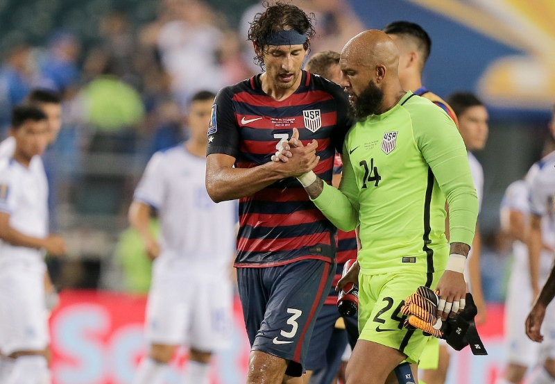 U.S. MNT vs. El Salvador - Omar Gonzalez, Tim Howard