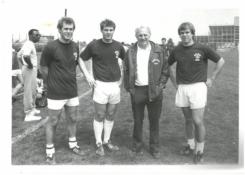 Walter Bahr with his sons Chris, Casey and Matthew