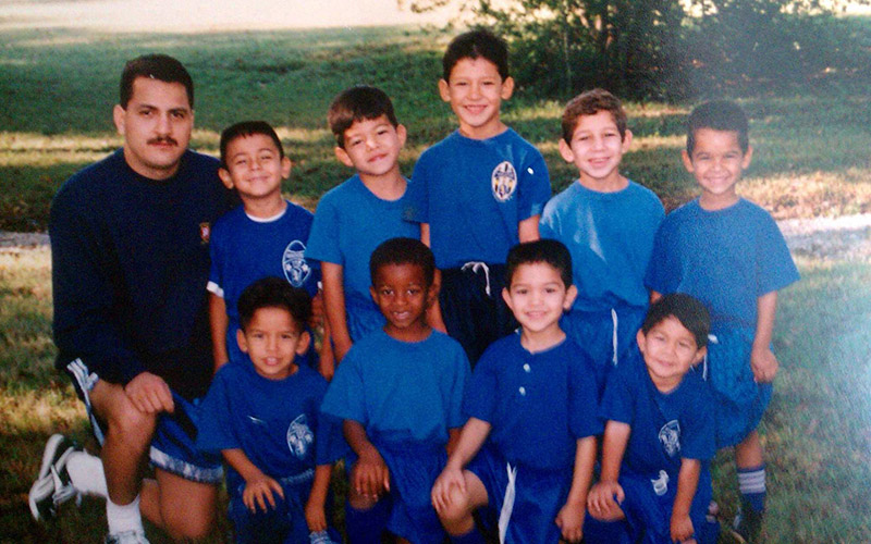 Future U.S. Men's National Team defender Omar Gonzalez with his youth soccer team