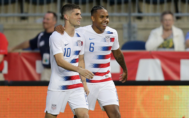 3629efe2765 The process started with serving as a support system for former Youth National  Team teammates Haji Wright and McKennie (pictured with Pulisic above) – who  ...
