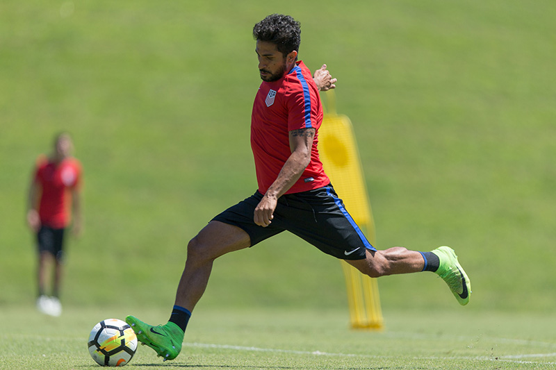 Kenny Saief during U.S. Men's National Team Training on June 27, 2017 - John Dorton / ISI Photos