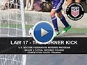 Law 17 The Corner Kick