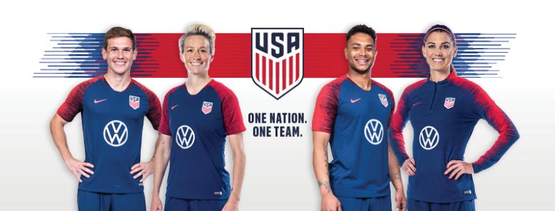 U.S. Soccer presenting partner Volkswagen training kits