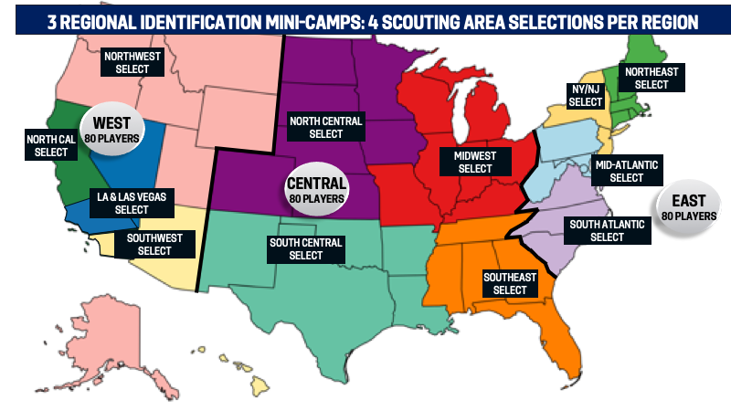 YNT U-14 Talent ID regional mini-camps