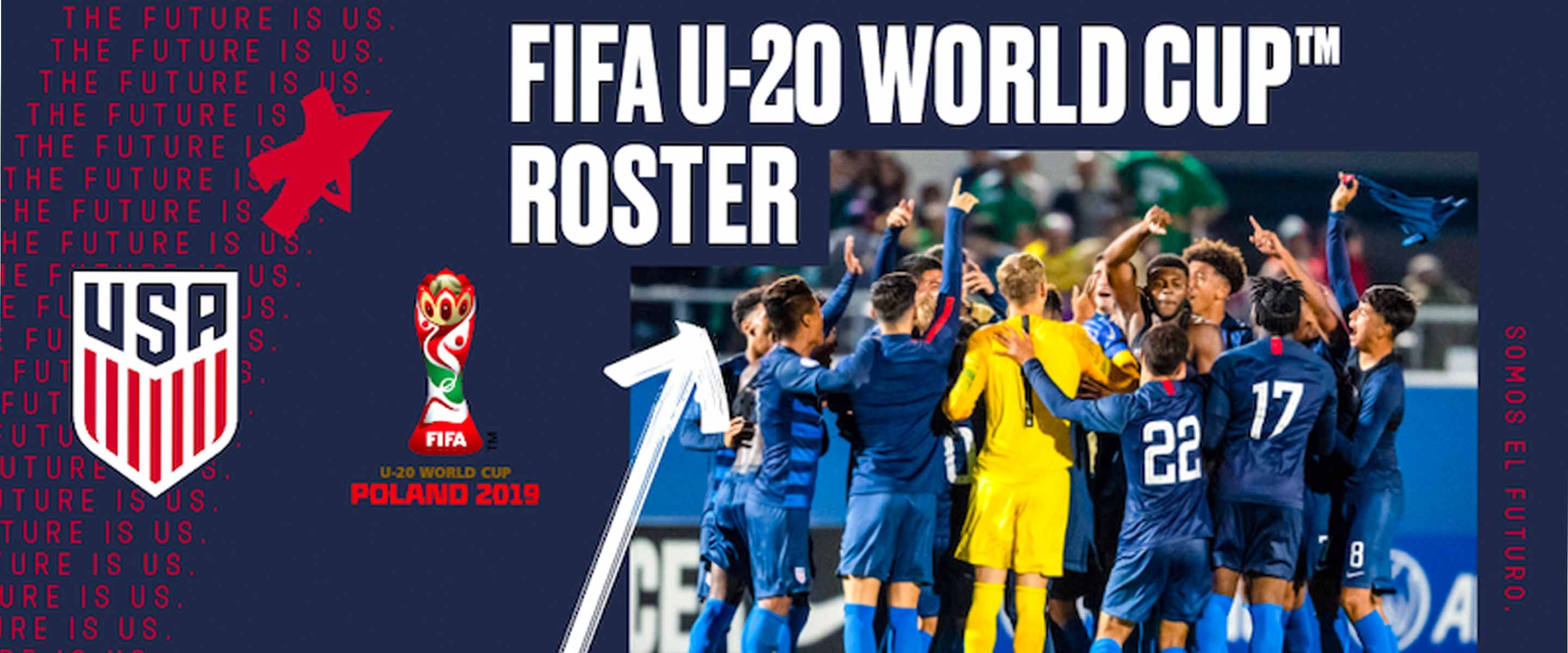 098dd367f89 Tab Ramos Names USA Roster for 2019 FIFA U-20 World Cup in Poland