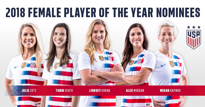 2018 U.S. Soccer Female Player of the Year nominees