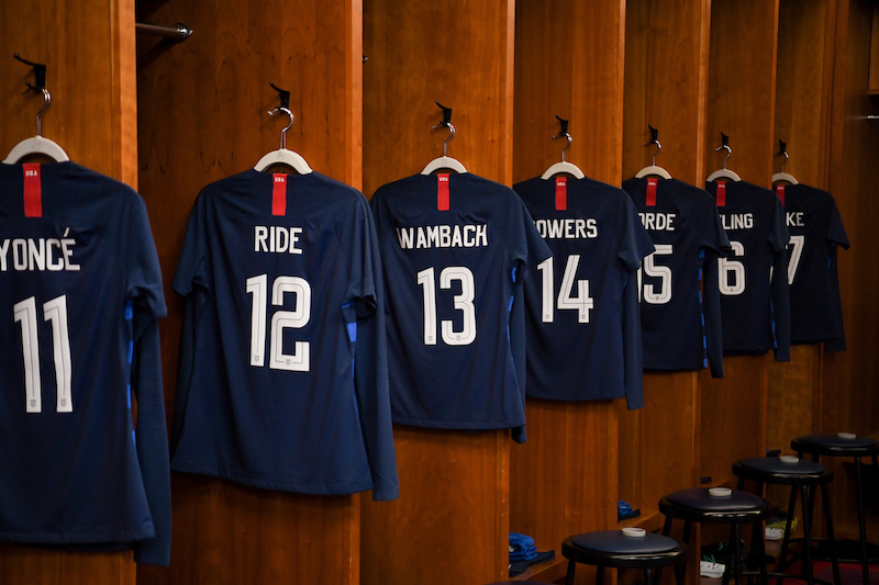 a4fbfe61 WNT Honors Inspirational Women with Names on Back of Jerseys at SheBelieves  Cup
