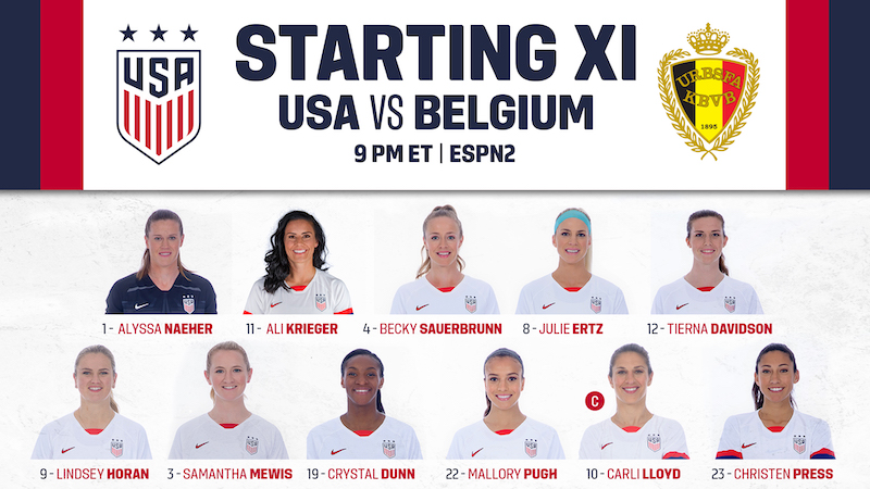 b49e0739e01 Lineup Notes  First Meeting Between USA-Belgium in Women s Soccer is Set for  Banc of California Stadium in LA