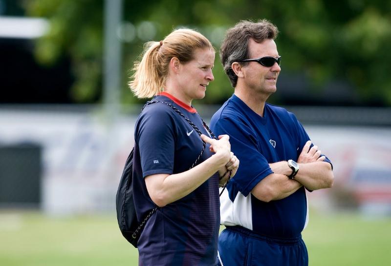 U.S. WNT coaches Cindy Parlow, Anson Dorrance