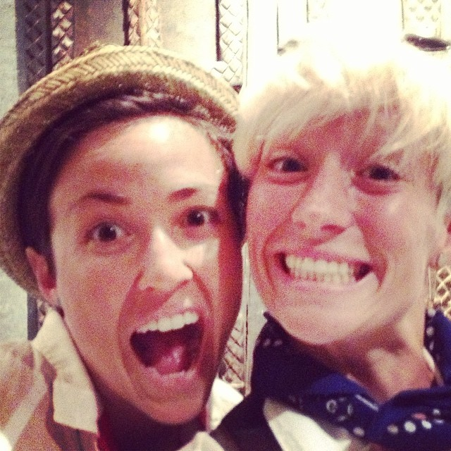 Rapinoe with her sister today